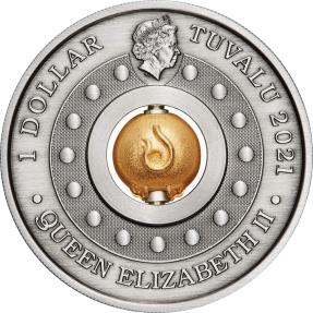 現貨 - 2021吐瓦魯-旋轉-牛年-1盎司銀幣