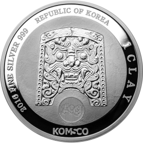 現貨 - 2016南韓-蚩尤天王-1盎司銀幣(精鑄)(特別版)