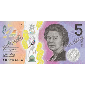 現貨 - 2016澳大利亞儲備銀行發行-新版+舊版-5澳元-塑膠鈔冊
