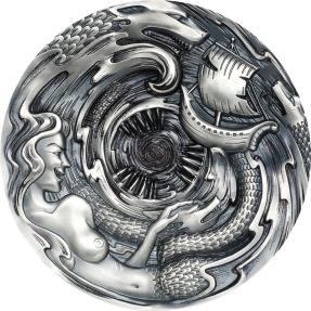 現貨 - 2020帛琉-潘朵拉的盒子-(錫拉與卡力布狄斯)女妖-3盎司銀幣