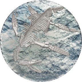 現貨 - 2020蒙古-史前動物系列-蛇頸龍-3盎司銀幣