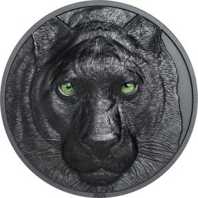 預購(確定有貨) - 2020帛琉-獵人之夜系列-黑豹-2盎司銀幣
