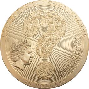 預購(確定有貨) - 2021蒙古-考古與象徵主義系列-科約爾沙赫基之石(鍍金版)-3盎司銀幣