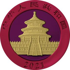預購(確定有貨) - 2021中國-熊貓-太空金屬版-30克銀幣