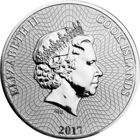 現貨 - 2017庫克群島-航運-1盎司銀幣-彩色版
