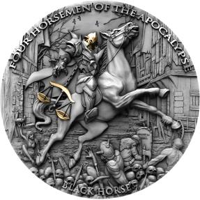 現貨 - 2020紐埃-啟示錄中的四騎士-黑馬-2盎司銀幣