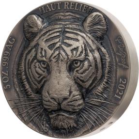 預購(即將到貨) - 2021象牙海岸-亞洲大五系列-虎-5盎司銀幣