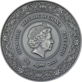 預購(限已確認者下單) - 2021迦納-健康女神-埃爾-50克銀幣