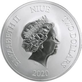 預購(即將到貨) - 2020紐埃-幸運-1盎司銀幣(普鑄)