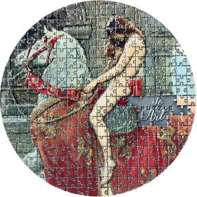 預購(確定有貨) - 2020喀麥隆-拼圖藝術系列-約翰·柯里爾(戈黛娃夫人)-3盎司銀幣