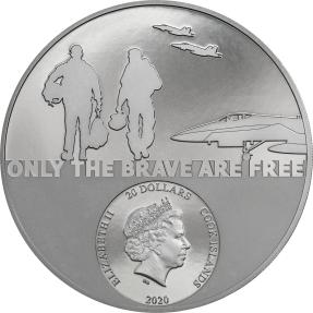 現貨 - 2020庫克群島-英豪系列-戰鬥機飛行員-3盎司銀幣