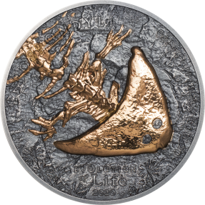 現貨 - 2020蒙古-生命演化系列-盜首螈-1盎司銀幣