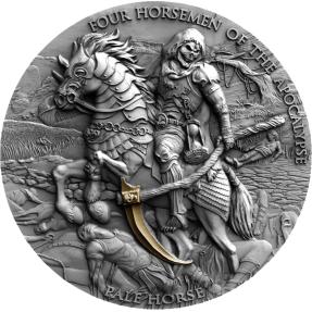 預購(確定有貨) - 2021紐埃-啟示錄中的四騎士-青馬-2盎司銀幣