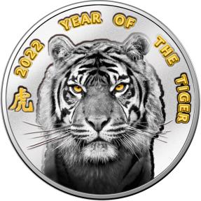 預購(即將到貨) - 2022紐埃-生肖-虎年-10克銀幣