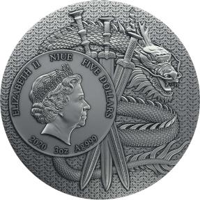 現貨 - 2020紐埃-中國古代的勇士系列-張飛-3盎司銀幣