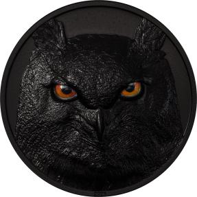預購(確定有貨) - 2021帛琉-獵人之夜系列-鵰鴞-2盎司銀幣