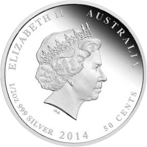 現貨 - 2014澳洲伯斯-新生兒-1/2盎司銀幣